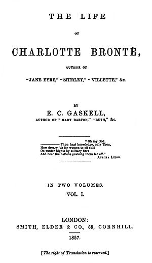 The Life of Charlotte Brontë - First edition title page