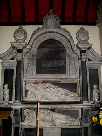 Robert Dudley (explorer) - Memorial to Robert Dudley's daughter Katherine Dudley and son-in-law Sir Richard Leveson.