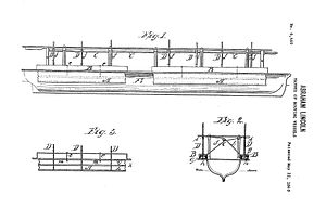 Abraham Lincoln's patent - Lincoln patent drawings for patent No. 6,469