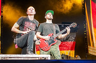 One More Light - Chester Bennington (left) and Mike Shinoda (right) performed fourteen press promo shows for the promotion of the album