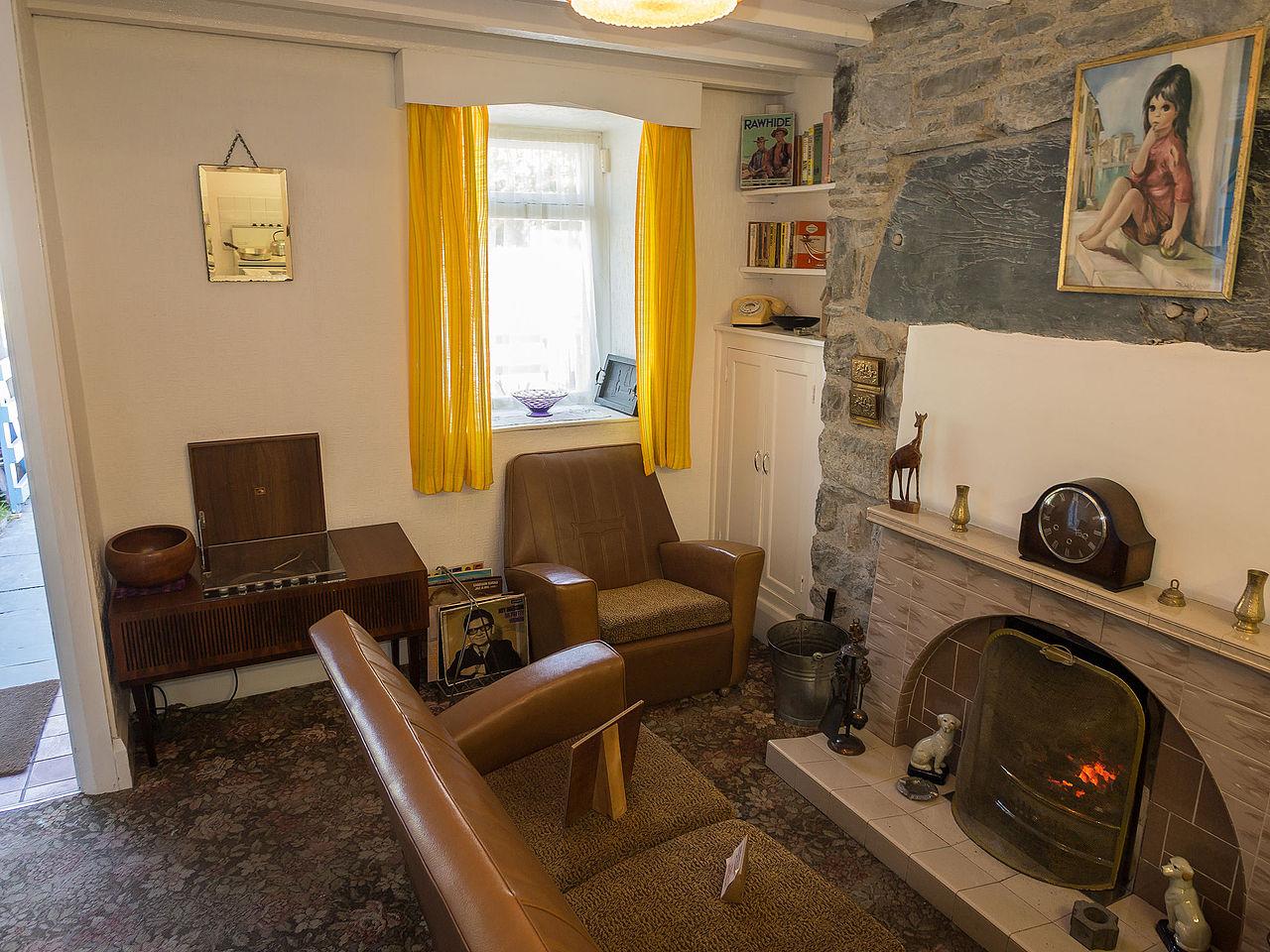 Living Room Slate Wall