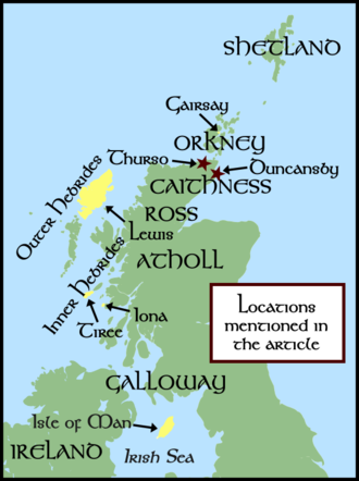 Ljótólfr - Locations mentioned in the article