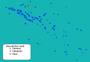 Takaroa - Image: Localización Islas Rey Jorge en las Tuamotu