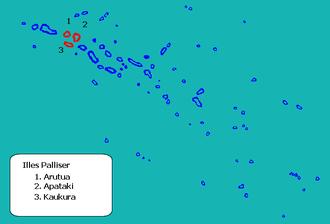 Arutua - Image: Localización Palliser en las Tuamotu