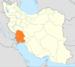 موقعیت استان خوزستان درایران.