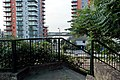 London-Woolwich, St Mary's Gardens, northeastern park entrance 3.JPG
