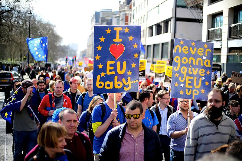 File:London Brexit pro-EU protest March 25 2017 25.jpg