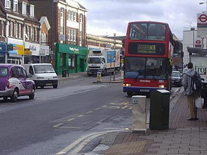 London Buses route 113 - Metroline Plaxton President bodied Volvo B7TL at Edgware in August 2008