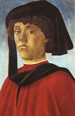 Lorenzo di Pierfrancesco de' Medici - Portrait, possibly of Lorenzo, by Sandro Botticelli