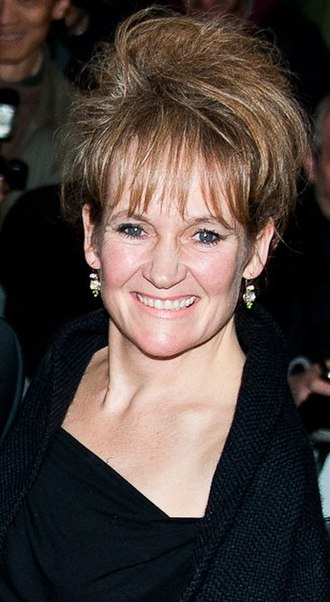 Nana's Party - Lorraine Ashbourne (pictured in 2013) played Carol, Angela's sister.