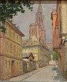 Lothar von Seebach-Cathédrale vue depuis la rue des Rohan.jpg
