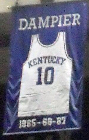 Louie Dampier - A jersey honoring Dampier hangs in Rupp Arena