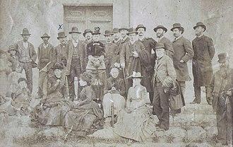 Louis Duchesne - Image: Louis Duchesne ( croix au dessus) en civil à Cornetto