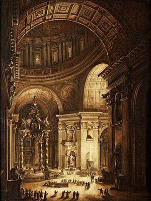 Louis Jean Desprez - Image: Louis Jean Desprez Illumination de la Croix de Saint Pierre à Rome