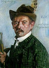 Selbstporträt mit Tiroler Hut