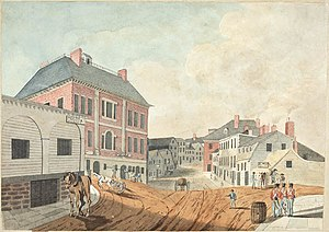 Halifax, Nova Scotia - Lower Water Street, Halifax as seen from the gate of the main Guard House, Nova Scotia, June 1823.