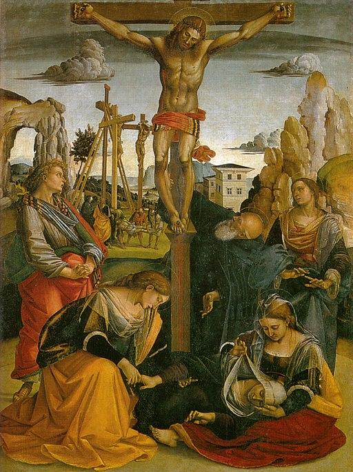 Luca Signorelli, Stendardo della Crocifissione (Crocifissione), Chiesa di Sant'Antonio abate (Sansepolcro)