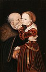 Lucas Cranach (I) - Ill-Matched Lovers (National Galery, Prague).jpg