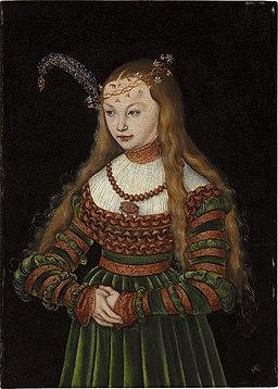 Lucas Cranach d.Ä. - Porträt der Prinzessin Sibylle von Cleve