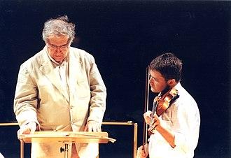 Luciano Berio - Berio with violinist Francesco D'Orazio