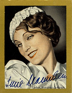 Lucie Mannheim German singer and actress