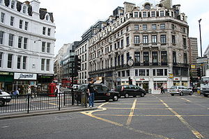 Ludgate Circus - Ludgate Circus pictured in 2006, looking north-west