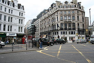 road junction in the City of London