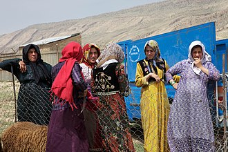 Lurs - Lur nomad women in Khorramabad, Lorestan Province, Iran