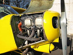 Lycoming O-360 in einer Piper PA 18