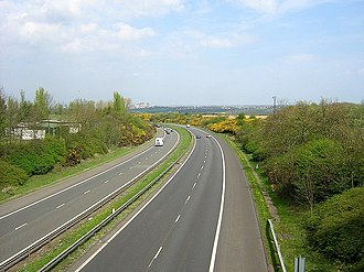 A74(M) and M74 motorways - M74 near Larkhall