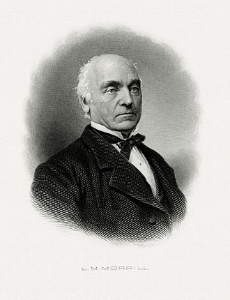Lot M. Morrill - Bureau of Engraving and Printing portrait of Morrill as Secretary of the Treasury.