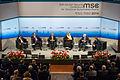 MSC 2014 Davutoglu-AlAttiyah-AlZayani-AlSaud-McCain-Bremmer Mueller MSC2014.jpg