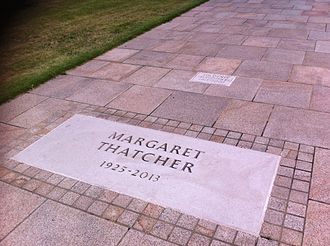 Royal Hospital Chelsea - The graves of Margaret and Denis Thatcher, whose ashes were interred at the infirmary in 2013 and 2003 respectively
