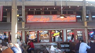 Fort Worth Stockyards - Riscky's Barbeque and a separate Riscky's Steakhouse are located in the Fort Worth Stockyards