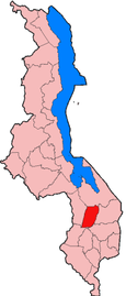 Location of Balaka in Malawi