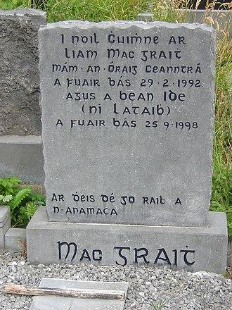 Gaelic type - Image: Mac grait grave
