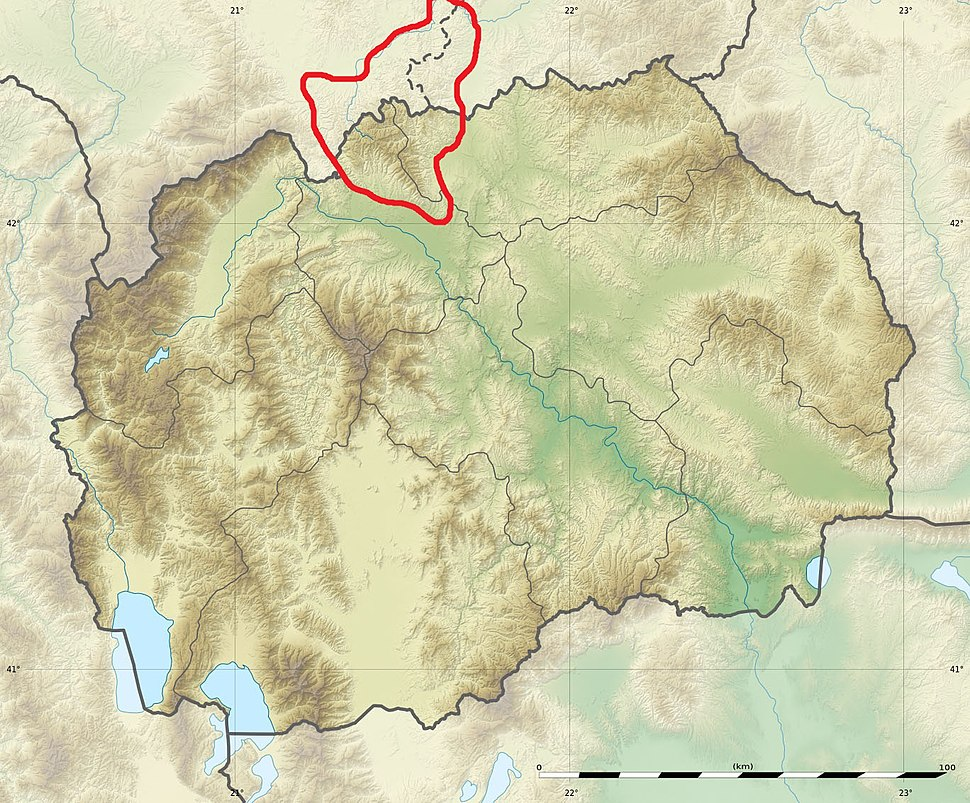 Macedonia relief Skopska Crna Gora location map