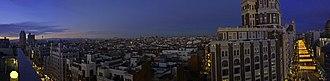 Gran Vía (Madrid) -  Gran Vía panorama, 2008
