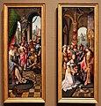 Maestro del gruppo dell'adorazione di anversa, davide che riceve l'acqua di betlemme e salomono e la regina di saba, 1515-20 ca. 01.jpg
