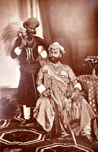 Tukojirao Holkar II - Tukoji II,The Maharaja Holkar of Indore in 1877