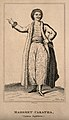 Mahomet Caratha, an acrobat. Engraving by R. Graves. Wellcome V0007184.jpg