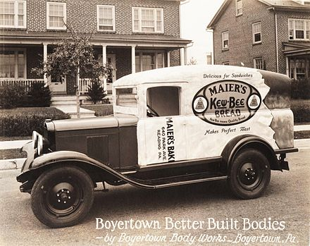 Maiers Kew Bee Bread Truck By Boyertown Body Works 1929 Chevrolet Chassis