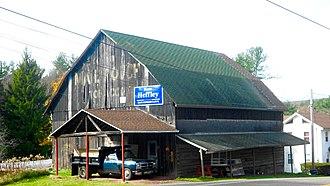 Packer Township, Carbon County, Pennsylvania - Mail Pouch barn near Hudsondale