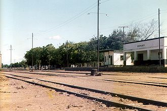Malawi Railways - Malawian rail station near the border to Mozambique, 1984