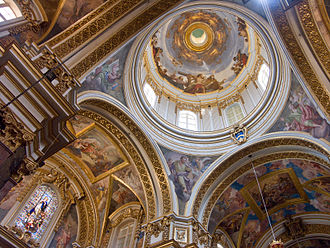 St. Paul's Cathedral, Mdina - The cathedral's frescoed interior