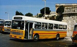 AEC Swift - Rebuilt Malta bus AEC Swift in March 1996