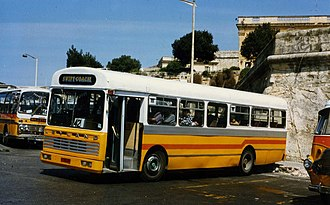 AEC Swift - Rebuilt Malta bus AEC Swift in March 1996