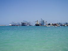 Malta Freeport from Pretty Bay at Birzebbuga.jpg