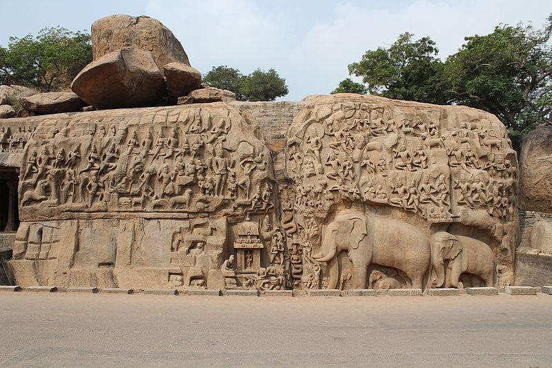 File:Mamallapuram, Arjuna's Penance (9902390324).jpg