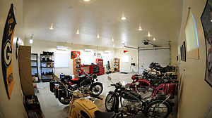 Man cave - A motorcycle enthusiast's man cave